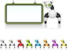 董事会机器人 免版税库存照片