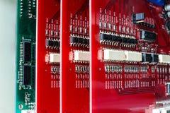 董事会电子绿色红色 库存照片