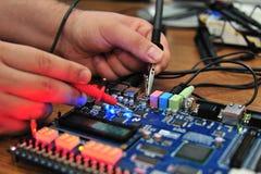 董事会电子被评定的pcb信号 库存照片