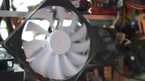 董事会电路计算机美元设备 计算机冷却风扇 影视素材