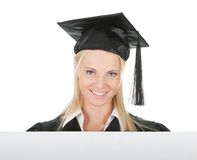 董事会空的女性毕业生存在的学员 免版税图库摄影