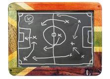 董事会脏的足球战术 库存图片