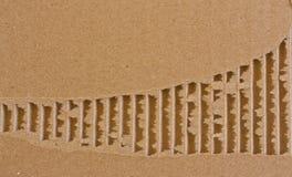 董事会被撕毁的配件箱看板卡 图库摄影