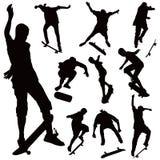 董事会跳的冰鞋 免版税库存照片