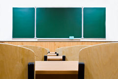 董事会选件类空的学校 免版税库存照片