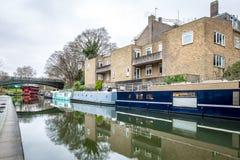 董事运河,伦敦早晨视图  免版税库存照片