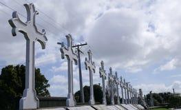 葬礼埋葬的公墓 库存照片