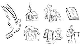 葬礼宗教向量 图库摄影
