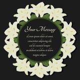 葬礼框架 与花水芋百合的哀悼的例证 向量例证