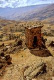 葬礼秘鲁火葬用的柴堆 库存照片