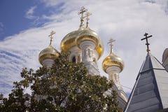 葱圆顶在雅尔塔,乌克兰 图库摄影