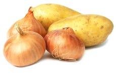 葱土豆 库存照片