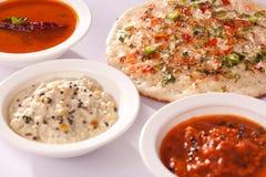 葱dosa是典型地南印地安薄煎饼。 图库摄影