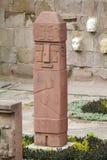 从蒂亚瓦纳科的神象雕象 库存照片