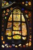 蒂凡尼窗口彩色玻璃纹理 库存图片