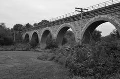 蒂凡尼铁路桥梁在威斯康辛 库存照片