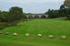 蒂凡尼铁路桥梁在威斯康辛 库存图片