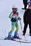 蒂娜萨顿纪念品-障碍滑雪滑雪竞争 库存图片