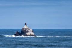 蒂拉穆克灯塔,Ecola点,太平洋海岸 免版税库存照片