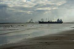 蒂斯河出海口 免版税库存图片
