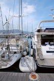 蒂瓦特 波尔图黑山 游艇 免版税库存照片