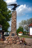 蒂科钦白色老鹰的雕象命令 库存照片