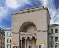 蒂米什瓦拉、罗马尼亚- 2016年10月15日-罗马尼亚国家歌剧院在蒂米什瓦拉,公开歌剧和芭蕾机关 库存图片