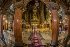 蒂米什瓦拉正统大教堂内部  图库摄影