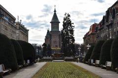 蒂米什瓦拉正统大教堂 免版税图库摄影