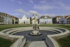 蒂米什瓦拉,罗马尼亚,欧洲,联合正方形 免版税库存照片