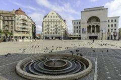 蒂米什瓦拉,罗马尼亚,欧洲,胜利正方形  库存照片