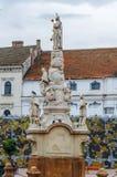 蒂米什瓦拉,罗马尼亚- 2016年10月15日雕象从1756在自由广场在蒂米什瓦拉 图库摄影