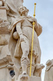 蒂米什瓦拉,罗马尼亚- 2016年10月15日雕象从1756在自由广场在蒂米什瓦拉 库存照片