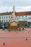 蒂米什瓦拉,罗马尼亚- 2016年10月15日雕象从1756在自由广场在蒂米什瓦拉 免版税库存图片