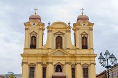 蒂米什瓦拉,罗马尼亚- 2016 10月15日,天主教主教制度的教会在蒂米什瓦拉,罗马尼亚 免版税库存图片