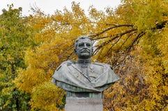 蒂米什瓦拉,罗马尼亚- 2016 10月15日,罗马尼亚人Nicolae Grigorescu将军纪念碑在蒂米什瓦拉 库存照片