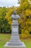 蒂米什瓦拉,罗马尼亚- 2016 10月15日,罗马尼亚人Nicolae Grigorescu将军纪念碑在蒂米什瓦拉 免版税库存图片