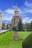 蒂米什瓦拉,罗马尼亚- 10月15日2016罗马尼亚正统大教堂在蒂米什瓦拉 库存图片