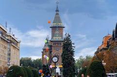 蒂米什瓦拉,罗马尼亚- 10月15日2016罗马尼亚正统大教堂在蒂米什瓦拉 库存照片