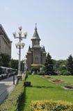 蒂米什瓦拉, 6月19日:从胜利广场的正统大教堂在从巴纳特县的蒂米什瓦拉镇在罗马尼亚 库存图片