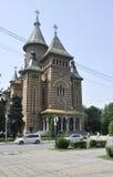 蒂米什瓦拉, 6月19日:从胜利广场的正统大教堂在从巴纳特县的蒂米什瓦拉镇在罗马尼亚 库存照片