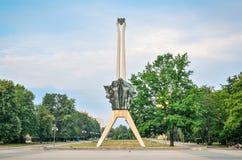 蒂黑市象在波兰 库存图片