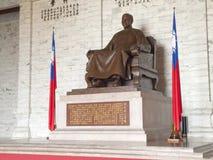 蒋中正古铜色雕象 免版税库存图片