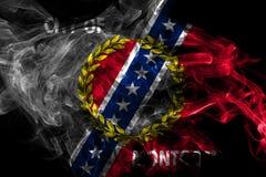 蒙加马利市烟旗子,阿拉巴马州,美国 向量例证