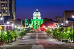 蒙加马利街市的阿拉巴马 免版税图库摄影