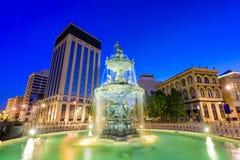 蒙加马利阿拉巴马喷泉 免版税库存照片