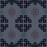 蒙古传统标志和装饰品的传染媒介例证 皇族释放例证