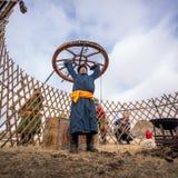 蒙古游牧人 免版税库存图片