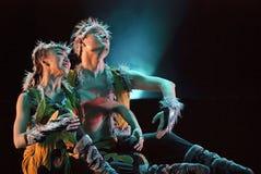 蒙古种族舞蹈家 免版税库存图片