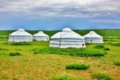蒙古语Yurt, Ger阵营 免版税库存图片